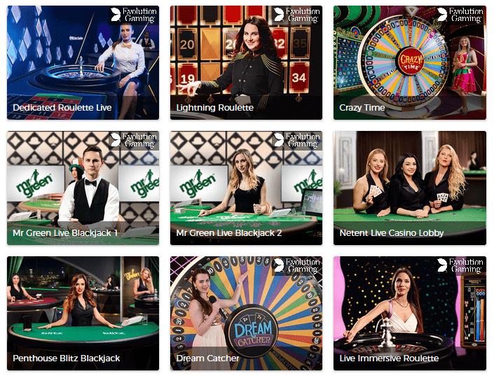 Mr Green Live Casino #2