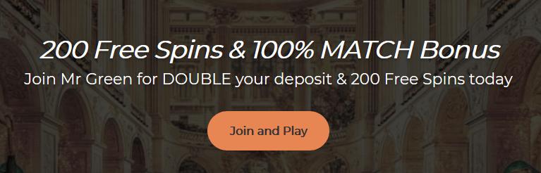 Mr Green Online Casino Bonus